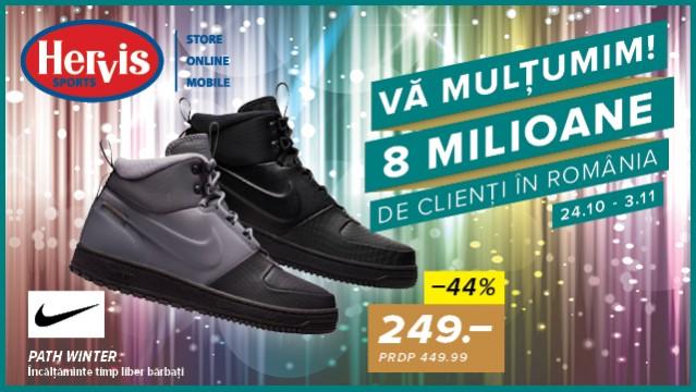 Hervis - Sarbatorim 8 milioane de clienti in Romania