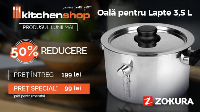 La KitchenShop ai -50% la Produsul Lunii!