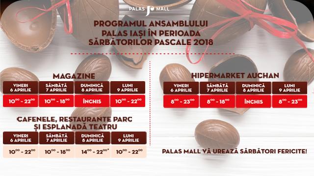 PROGRAMUL ANSAMBLULUI PALAS IASI IN PERIOADA SARBATORILOR PASCALE 2018