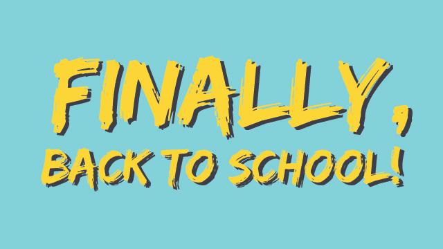 FINALLY BACK TO SCHOOL - premii pe loc si marea extragere