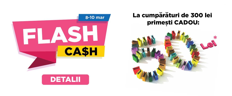 Flash Cash - castiga un cec de 50 lei
