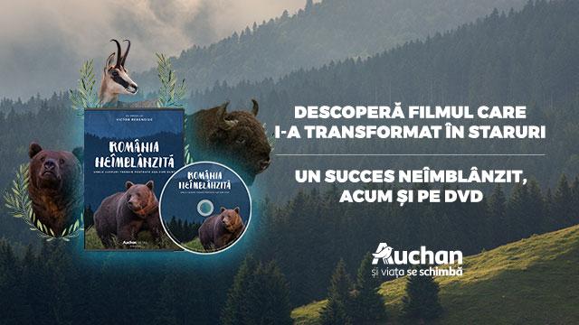 """DVD-ul """"România neîmblânzită"""" disponibil exclusiv în magazinele Auchan!"""
