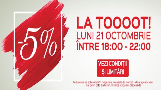 Auchan -5% reducere de la ora 18:00