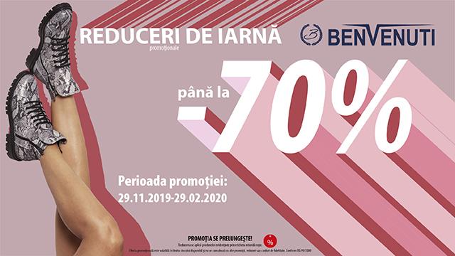 Reduceri de până la -70% la Benvenuti
