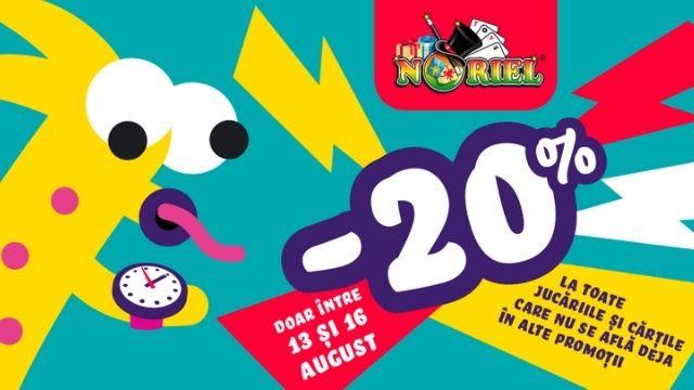 Noriel - 20% discount la toate jucariile