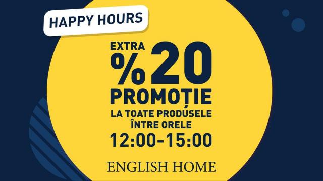 English Home - 20% discount la toate produsele
