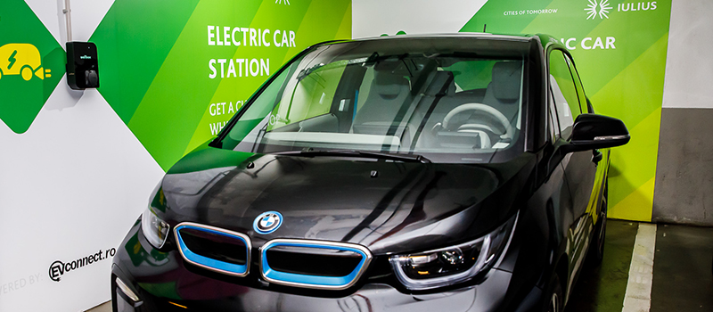 Electric automobile charging stations